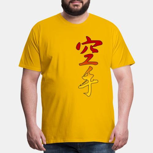 Karate Kanji Red Yellow Gradient - Men's Premium T-Shirt
