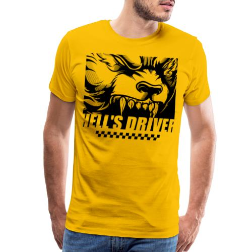taxi drive driver wolf - Men's Premium T-Shirt
