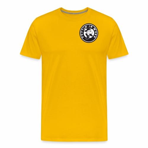 Solid Puttin' In Work Logo - Men's Premium T-Shirt