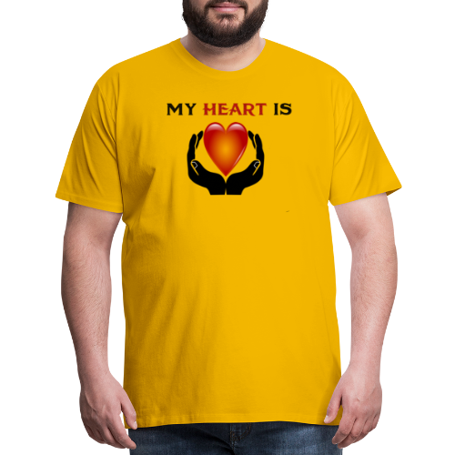 MY HEART IS - Men's Premium T-Shirt