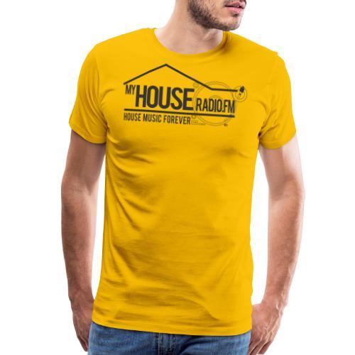 My House Radio Black Logo - Men's Premium T-Shirt