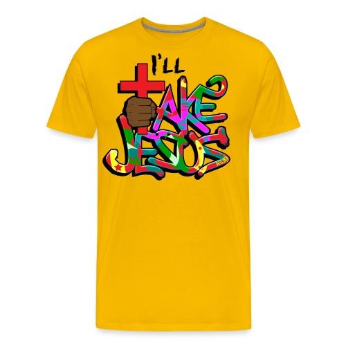 I'll Take Jesus Graffiti Print - Men's Premium T-Shirt