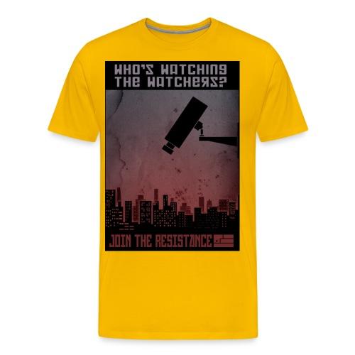 whos watching the watchers - Men's Premium T-Shirt