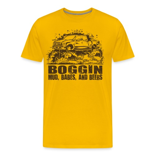 Mud Truck Beer Boggin - Men's Premium T-Shirt