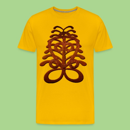 adinkra brown2 png - Men's Premium T-Shirt