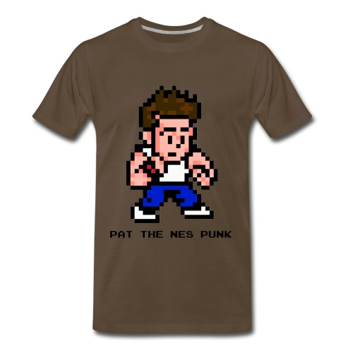pat pixel7 with clear background black l - Men's Premium T-Shirt