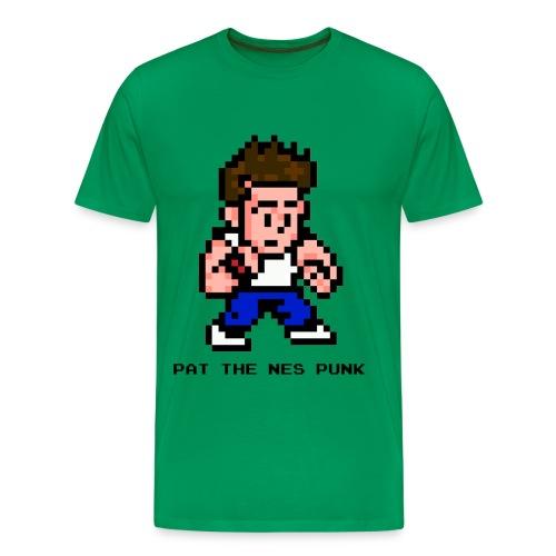 pat pixel7 with clear background black l - Men's Premium T-Shirt