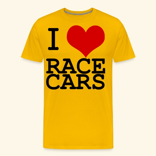 I Love Race Cars - Men's Premium T-Shirt