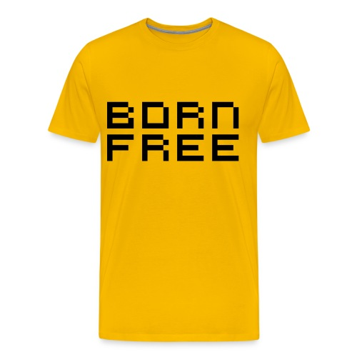born free black png - Men's Premium T-Shirt