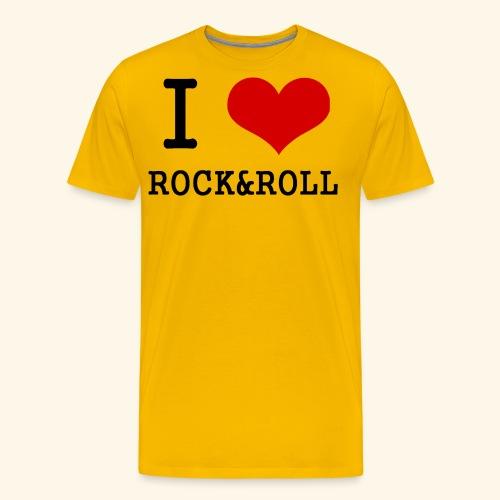 I love rock and roll - Men's Premium T-Shirt