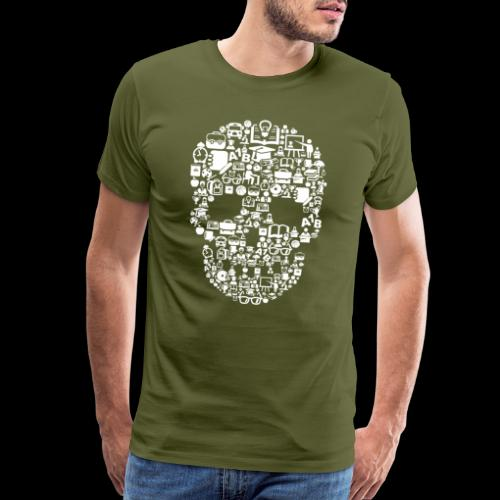 Getting Schooled Skull - Men's Premium T-Shirt