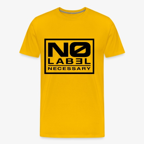 No Label Necessary Logo Black - Men's Premium T-Shirt