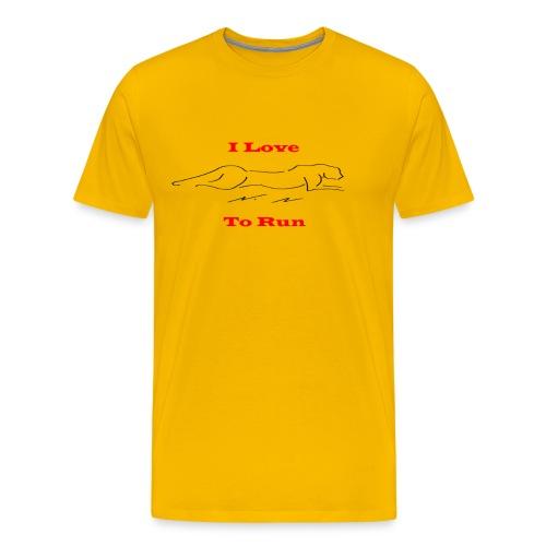 LoveToRun - Men's Premium T-Shirt