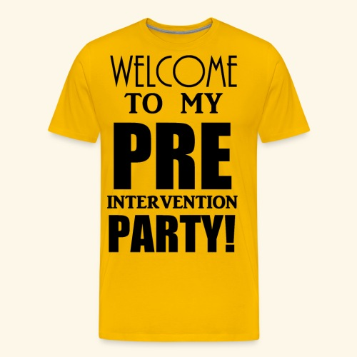 pre intervention party - Men's Premium T-Shirt