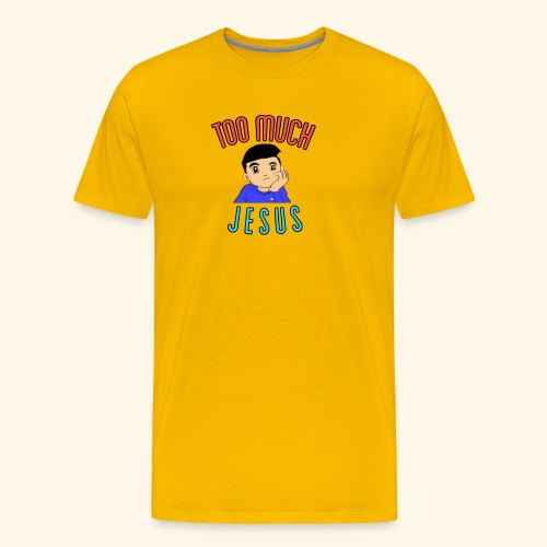 Too Much with Logo - Men's Premium T-Shirt