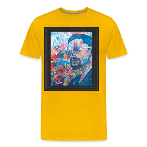 Malcolm X by Sherwin Long - Men's Premium T-Shirt