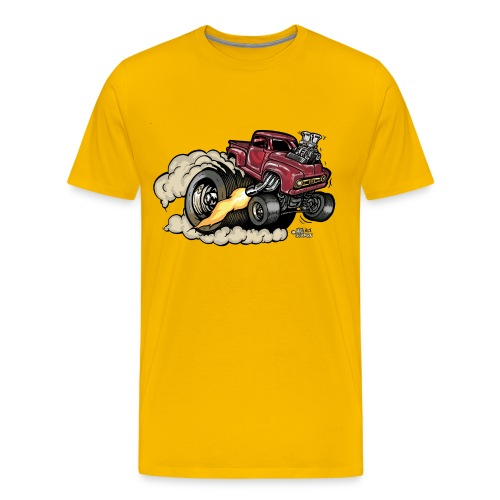 1956 Ford Pickup with Supercharger - Men's Premium T-Shirt