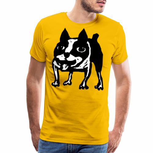 Mad Dog Boston Terrier - Men's Premium T-Shirt