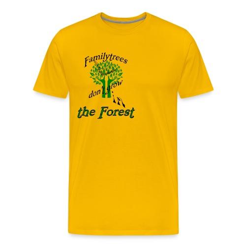 genealogy family tree forest funny birthday gift - Men's Premium T-Shirt