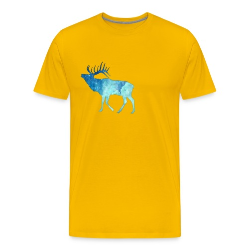 Night time deer - Men's Premium T-Shirt