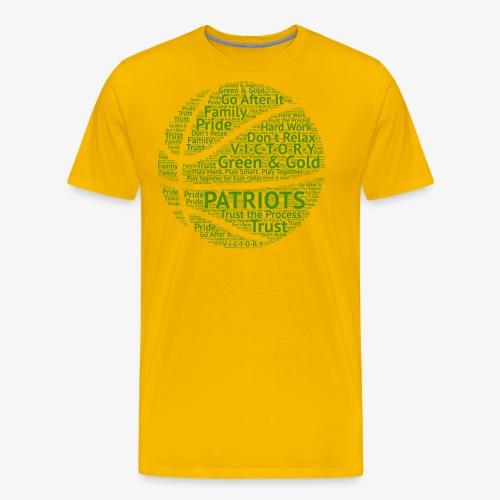 Pats Basketball Green - Men's Premium T-Shirt