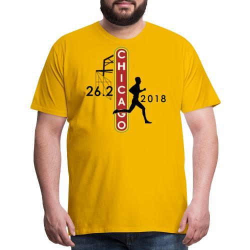 Chicago 26.2 Marathon 2018 - Men's Premium T-Shirt