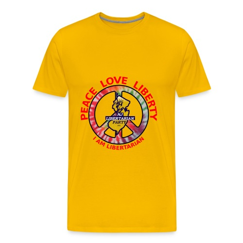 NJ Libertarian Peace, Love, Liberty - Men's Premium T-Shirt
