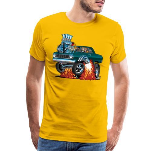 Sixties American Classic Muscle Car Cartoon - Men's Premium T-Shirt