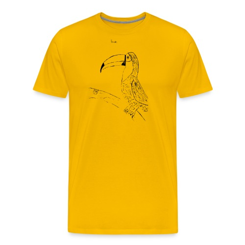 Stephen's hand drawn Toucan - Men's Premium T-Shirt
