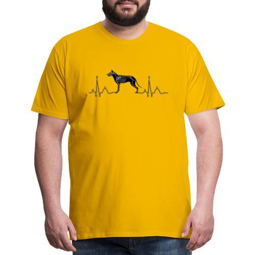ECG with Dog - Men's Premium T-Shirt