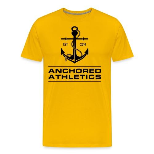 Anchored Athletics Vertical Black - Men's Premium T-Shirt
