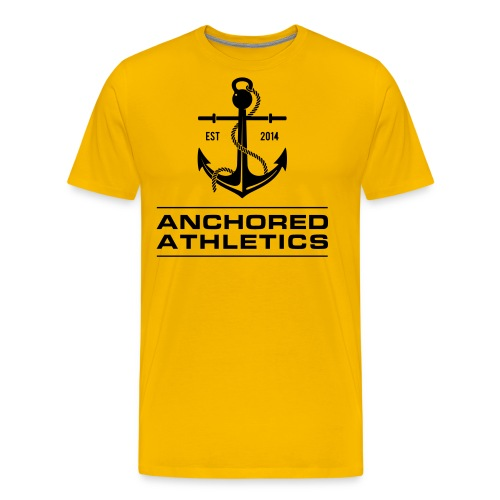 Anchored Athletics Vertical Black - Men's Premium T-Shirt