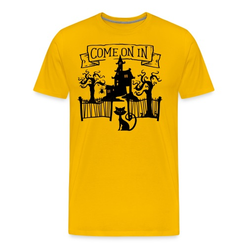Halloween Haunted house, Come on in - Men's Premium T-Shirt