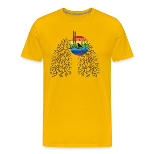 rainbow dark lungs - Men's Premium T-Shirt