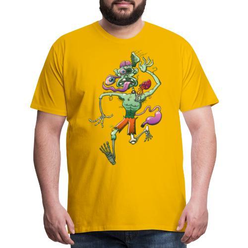 Zombie in Trouble Falling Apart - Men's Premium T-Shirt