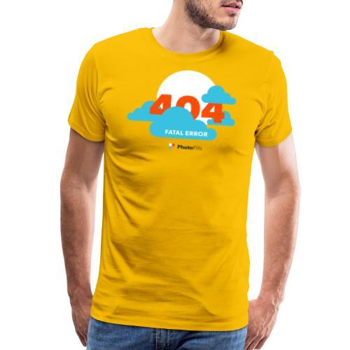 404 Fatal Error Moon Not Found - Men's Premium T-Shirt