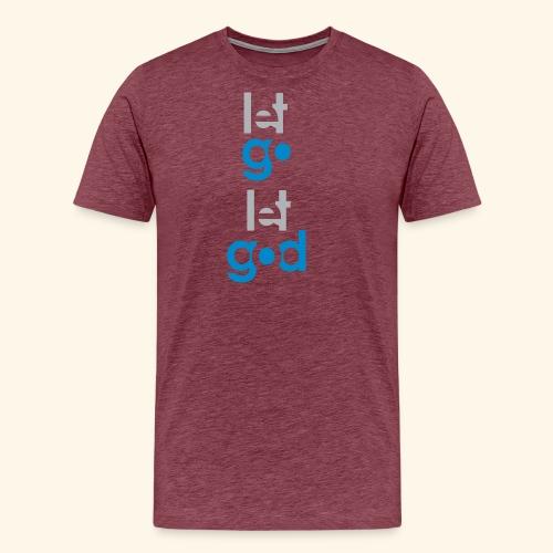 LET GO LET GOD GREY/BLUE #7 - Men's Premium T-Shirt