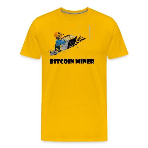 Funny bitcoin miner guy - Men's Premium T-Shirt
