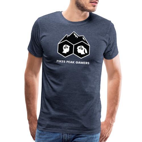 Pikes Peak Gamers Logo (Solid Black) - Men's Premium T-Shirt