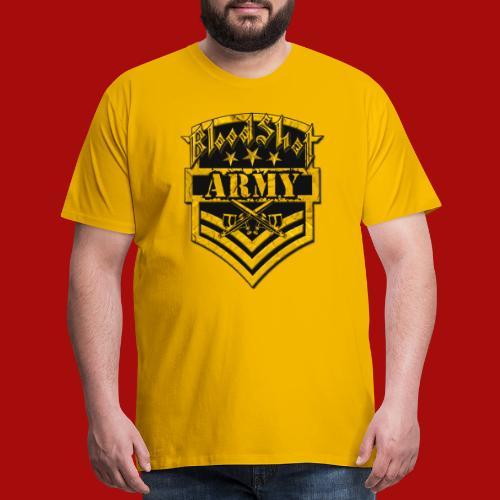 BloodShot ARMYLogo Gold /Black - Men's Premium T-Shirt
