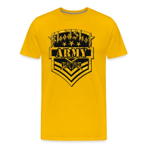 BloodShot ARMYLogo Gold /Black - Men's Premium T-Shirt
