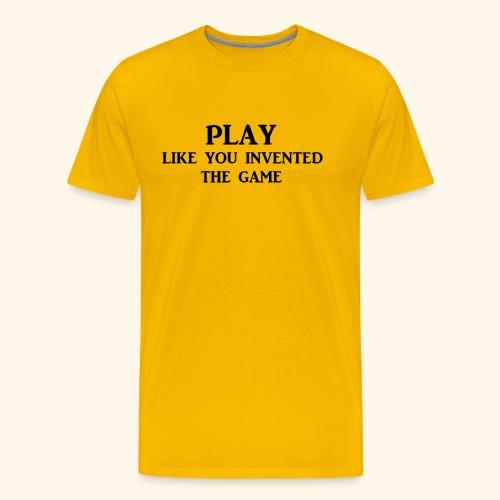 play like game blk - Men's Premium T-Shirt