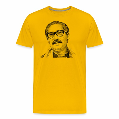 Bangabandhu sketch - Men's Premium T-Shirt