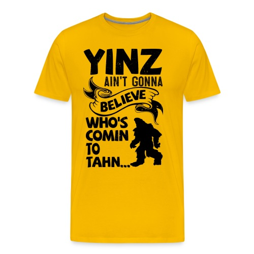 Yinz Bigfoot The Movie - Men's Premium T-Shirt
