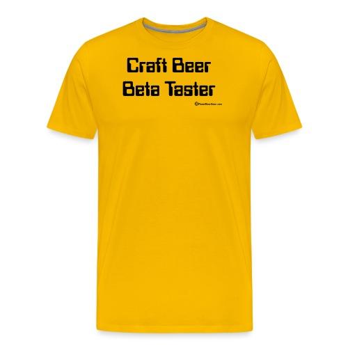 Craft Beer Beta Taster - Men's Premium T-Shirt