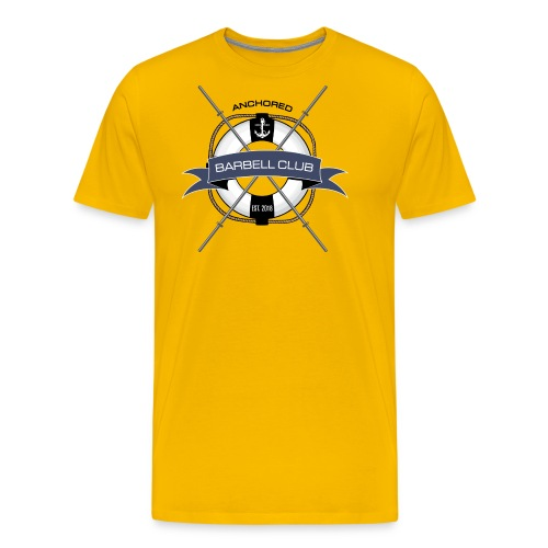 Anchored Barbell Club Colored - Men's Premium T-Shirt