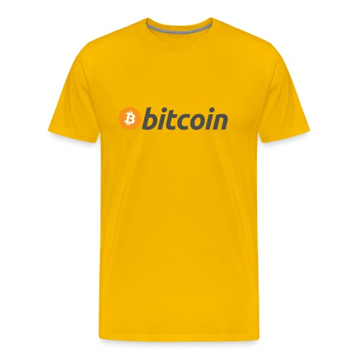 Bitcoin Logo Wear - Men's Premium T-Shirt