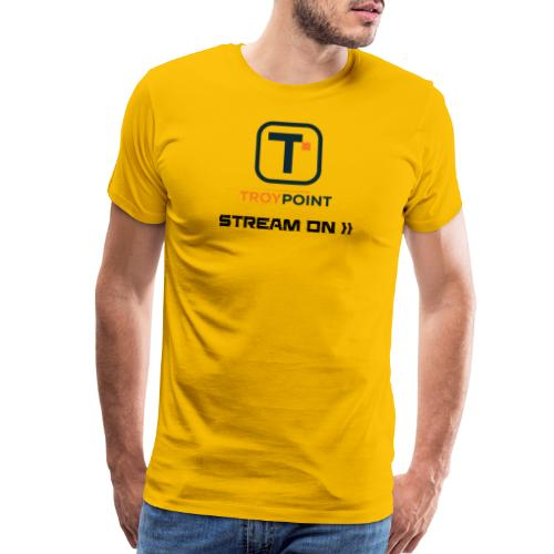 TROYPOINT Stream On Navy Logo - Men's Premium T-Shirt