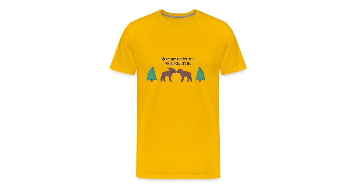 mooseltoe Mens Premium T Shirt | doodlingdigits