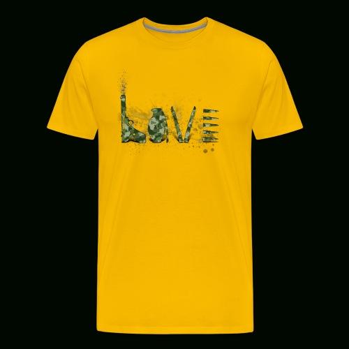 Love and War - Army - Men's Premium T-Shirt